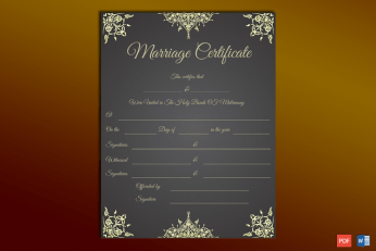 Calligraphy Marriage Certificate