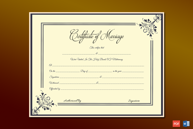 Marriage Certificate License Templates (Microsoft Office)
