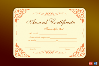 Formal Award Certificate Free Print