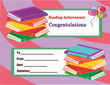 Reading Achievement Award Certificate Template