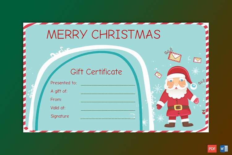 Free Printable Merry Christmas Gift Certificate