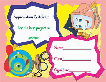Science Student Certificate of Appreciation Template Word
