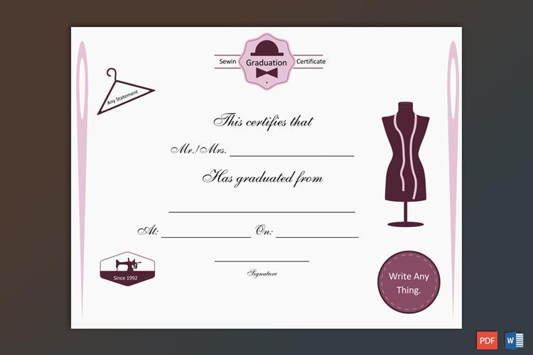 Graduation Award Certificate