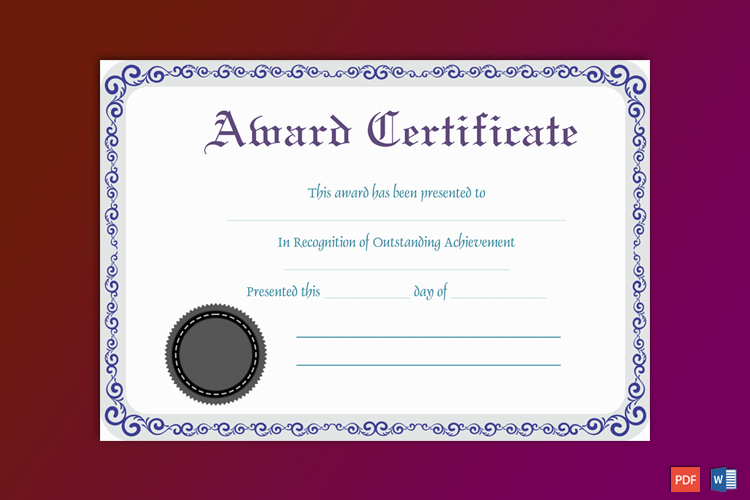 Recognition Award Certificate