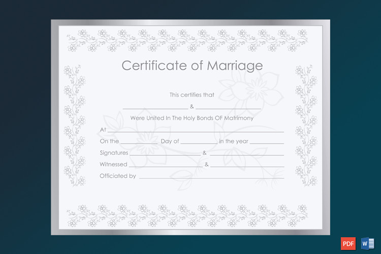 Silver-Certificate-of-Marriage-Template-Word