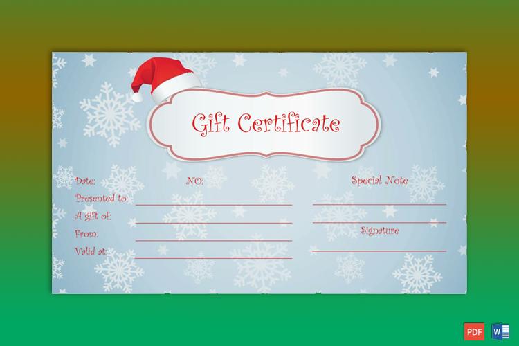 Sample of Christmas Gift Certificate