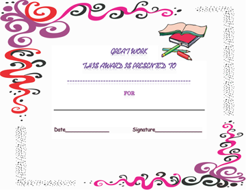 Student Inspiration Certificate of Appreciation