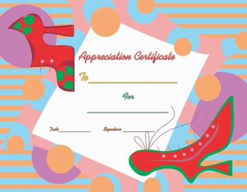 Walking Good Certificate of Appreciation Template