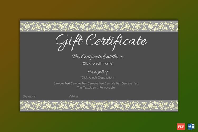 Formal Gift Certificate