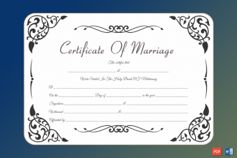 marriage certificate template vintage free