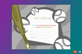 Baseball Gift Certificate