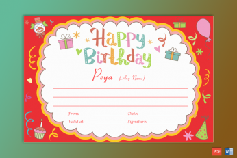birthday gift certificate printable
