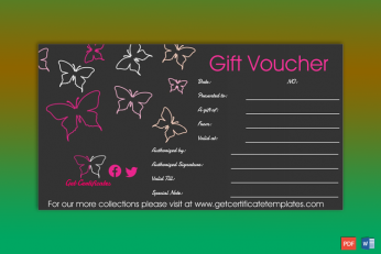 Gift Certificate Editable