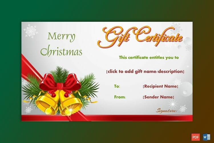 Christmas Bells Gift Certificate