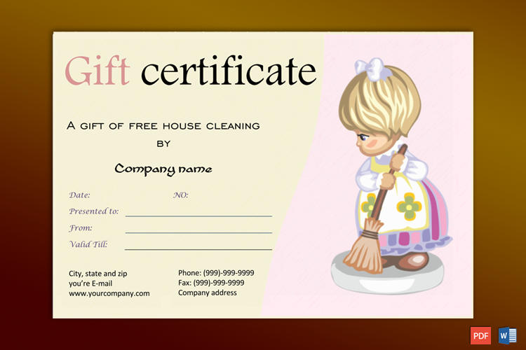 Service Gift Certificate