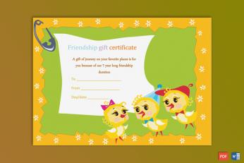 School Gift Certificate