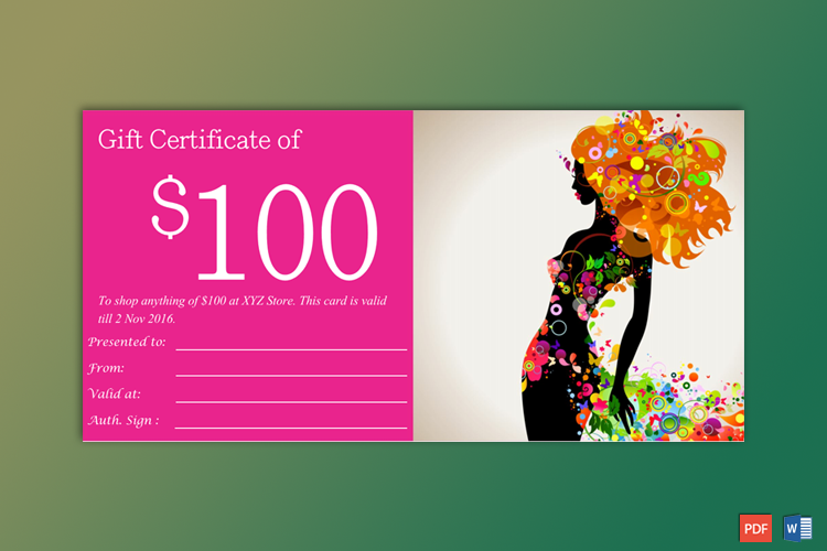Gift Certificate Template Example