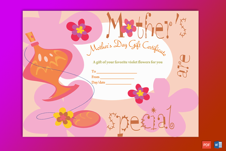 Mother Gift Certificate