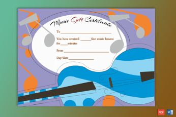 Music Gift Certificate