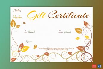 Print Free Gift Certificate