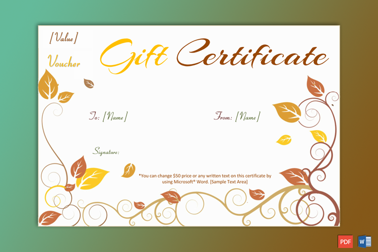 Print Free Gift Certificate