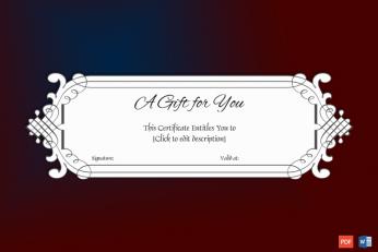 Editable Gift Voucher