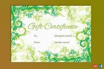 Formal Gift Certificate