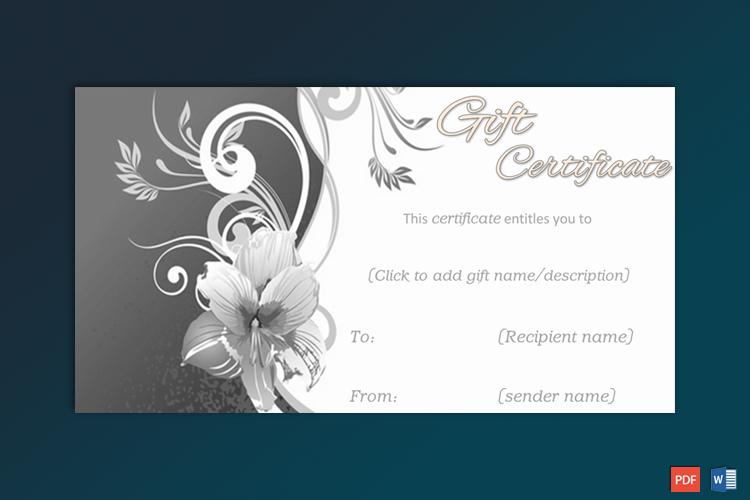 Editable Formal Gift Certificate