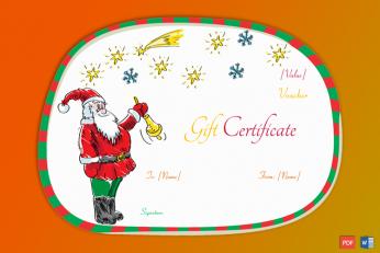 Santa Claus Christmas Gift Certificate