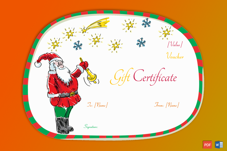 Santa Claus Christmas Gift Certificate