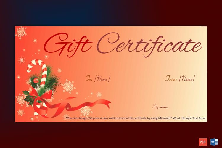 Gift Certificate Sample