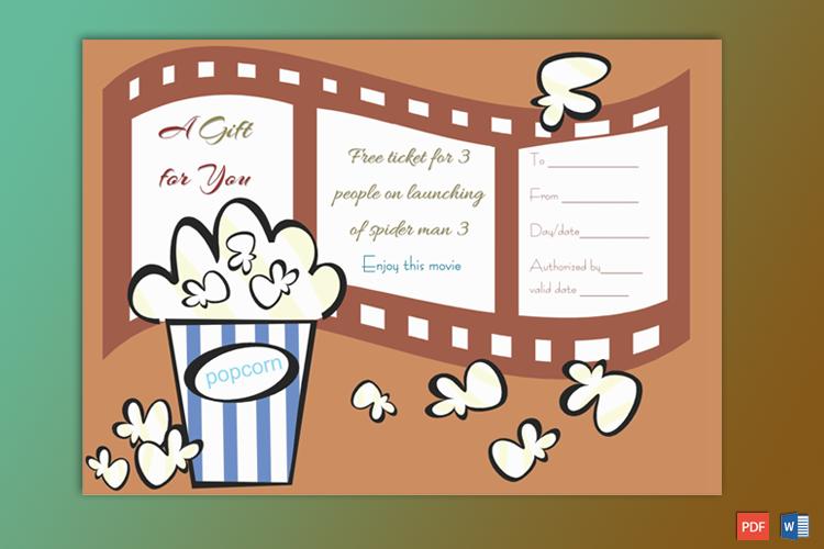 Movie Gift Certificate Sample