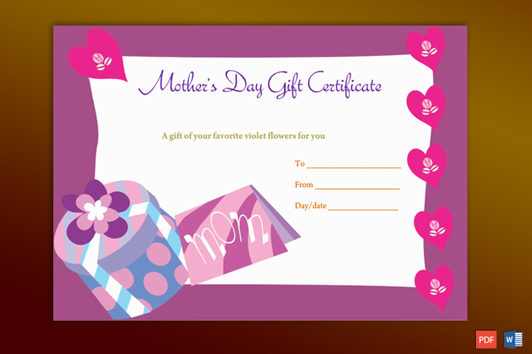 Mother's Gift Certificate
