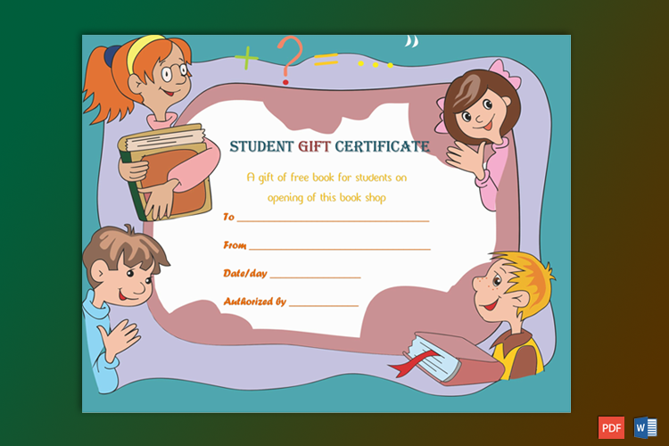 Students Gift Certificate