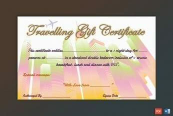 Editable Gift Certificate