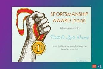 School Annual Sports Certificate Format