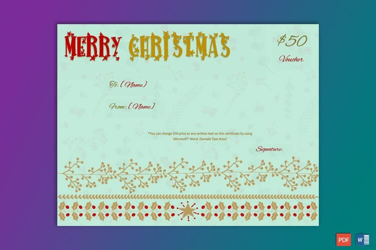 Make Your Own Christmas Gift Certificate