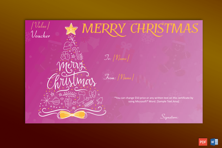 Christmas Gift Certificate (Artistic Tree) pr