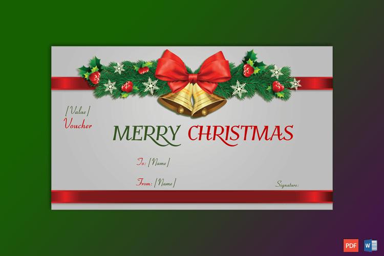 Christmas Gift Certificate (Christmas Bells) pr