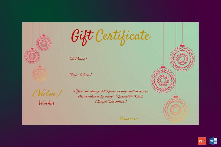 Christmas Gift Certificate - (Dusk Delight) pr