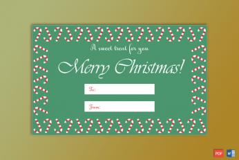 Christmas Gift Tag Template Candies Themed