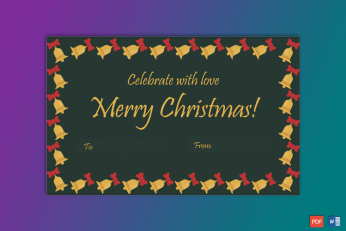 Christmas Gift Tag Template Bells