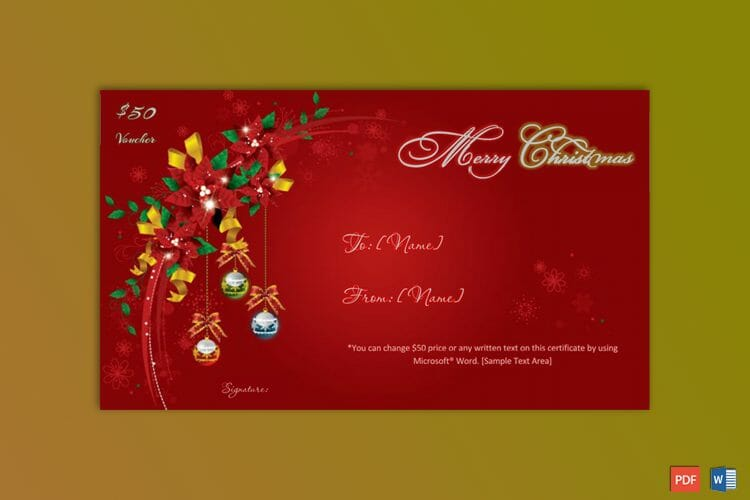 Christmas-Gift-Certificate-Template