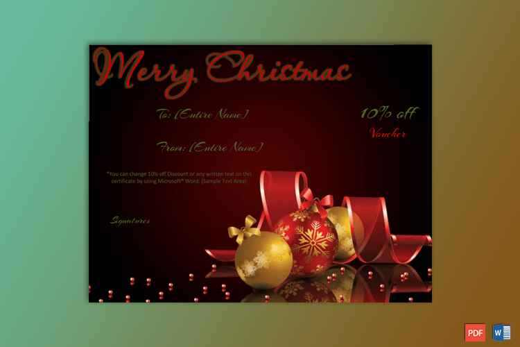 Christmas-Gift-Certificate-Template-Red-Themed-With-Ornaments