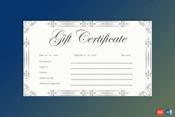 Gift Voucher Design Template Free