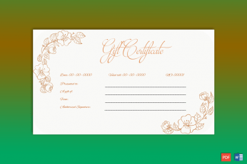 Gift Voucher Template Word