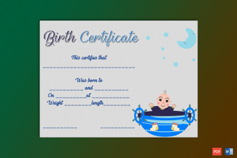Birth-Certificate-Template-(Boat,-#4339)-Preview