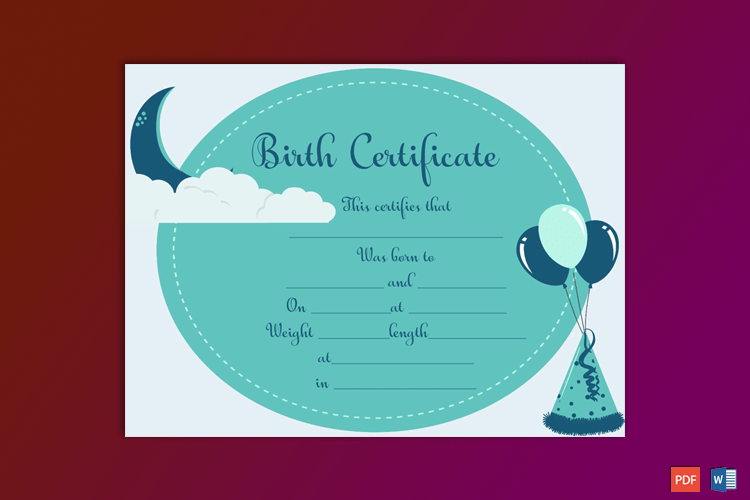 Birth-Certificate-Template-(Moon,-#4373)-Preview