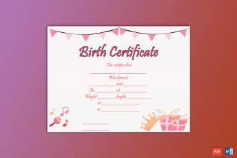 Birth-Certificate-Template-(Princess,-#4354)-pr