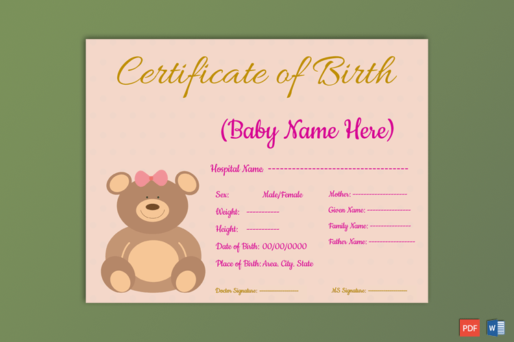 Birth-Certificate-Template-bear-Themed.Preview